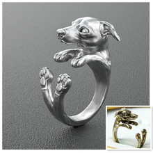 Buy cheap goods wholesale 2015 new rings 50pcs retro Italy Greyhound Ring free size rings for women(China)