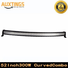 "DISCOUNT FREE SHIPPING Curved 52"" inch led light bar 300W watt COMBO Beam 52 inch curved led light bar WITH brackets 4x4 ,atv(China)"