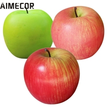 AIMECOR Top Grand Home Furnishing Fake Green Mini Apples Plastic Artificial Fruit House Party Kitchen Decor #V1N2