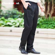 food service Summer hotel restaurant kitchen staff work wear trousers loose black chef pants waiter pants