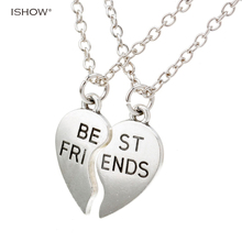 Buy New collier choker necklace heart pendant pieces broken two best friend friendship forever women necklace jewelry collares mujer for $1.89 in AliExpress store