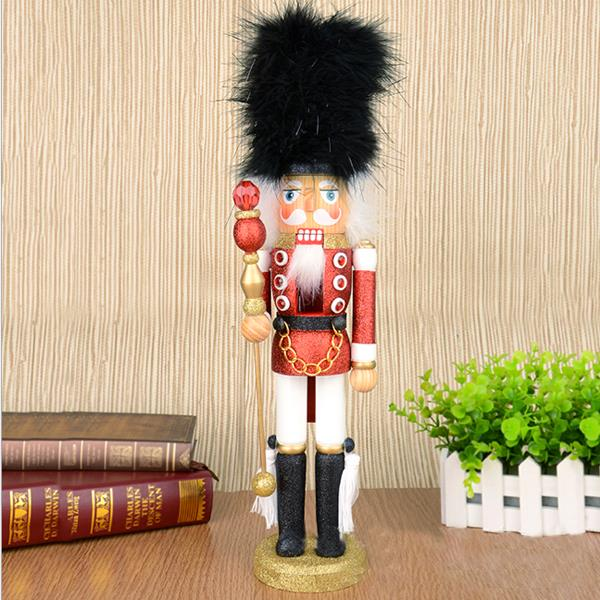 D336 Free shipping Movable doll puppets 46CM color Shiny Bright shining nutcracker soldier puppets, hand-painted children gifts<br><br>Aliexpress