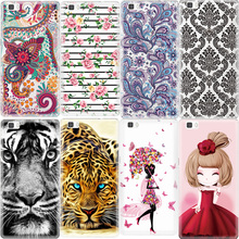 New Rose Flower Pattern Phone Case For Huawei Ascend P8 Lite P9 Lite Honor 4C 5C Animals Girls TPU Cover Cases Fundas Shell