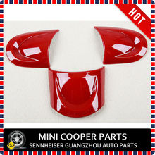 New ABS Material UV Protected Mini Ray Red Color No-Multifunctional Steering Wheel Cover For mini cooper R55-R61(3 Pcs/Set)(China)