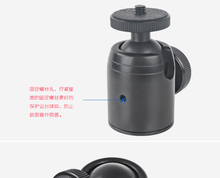 "Aluminum Pan tilted head 360 degree Swivel Mini Ball Head Small with 1/4"" Screw Mount for DSLR Camera Tripod Monopod Stand(China)"