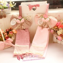 Sweet princess lolita home accessories inventory super discount cotton lace hanging towel 3 different items to get free shipping(China)