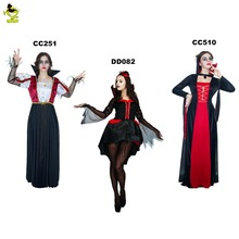 2017 Women's Devil Vampire Costumes For Women's Sexy Halloween Costumes Black Evil Queen Costume Party Cosplay Dress(China)