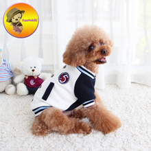 New Arrival Spring autumn XS-XXL Puppy Coat dog Jacket Pet Clothes dogs hoodies clothing pets baseball uniform Dog Apparel(China)