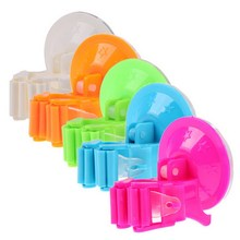 5 Color Plastic Mop Broom Holder Rack with Suctions Hanger Home Kitchen Storage Broom Organizer Wall Mounted Free Shipping(China)