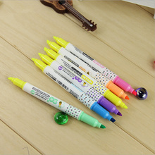 Hot Sale Stationery Store Highlighter Colored Pens For School With Invisible Ink Pen Scribble Pen School Supplies Markers