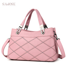 High Quality Handbag Tote Bags For Women Shoudler Messenger Female Classic Simple Diamond Lattice Pink Hand Bag Drop Shipping(China)