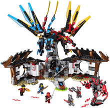 LELE 2017 New Ninja Technic Master of Spinjitzu Model Building Blocks Compatible LegoINGlys Ninjago Toy for Children 1157 PCS
