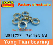 (1pcs) High quality miniature stainless steel deep groove ball bearing (stainless steel 440C material) SMR117ZZ 7*11*3 mm(China)