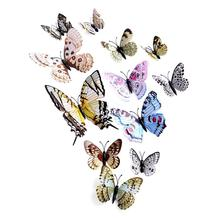 Vinyl wall butterfly decoration 3D Wall Stickers home decoration accessories bedroom decor vinilos adhesivos decorativos pared