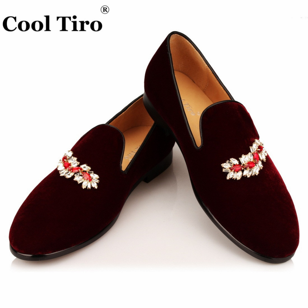VELOUR BURGUNDY SLIPPERS Loafers (5)
