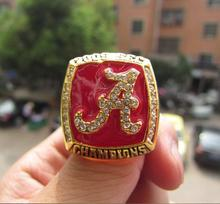 Free Shipping high quality 2009 Alabama SEC Crimson Tide football championship ring solid souvenir Sport men fan gift