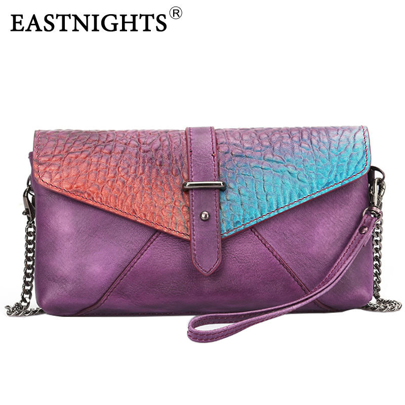 EASTNIGHTS Famous Brand Genuine Leather Women Handbags Fashion Clutches Women Crossbody Shoulder Messenger Bags Chain Bag TW2518<br><br>Aliexpress