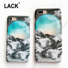 LACK 2017 Luxury Hard PC Snow Mountai Case For iphone 7 Case Lovely Cartoon Starry Sky Phone Cases Cover For iphone7 6 6S Plus