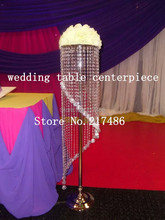 4 crystal table top chandelier centerpieces for weddings , Tall crystal column wedding ,walkway leading road