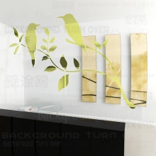 Various colors DIY Graceful magpie tree branch bird sticker wall decorations living room sofa TV backdrop decoration R053(China)