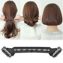 2017 Make Up Hair Braiding Braider Tool Long Hair Become Short Hair Hairstyle Hair Curler Hairpins Professional Styling Tool Hot(China)