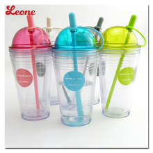 Hot Selling summer cool Fruit juice ice drink plastic mugs Colorful Transparent cup kettle High quality Portable Straw drinkware