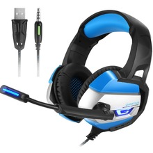 Brand New 3.5mm Gaming Headset PS4 Computer PC Gamer PS4 Headset Gaming Headphone With Mic For Computer PlayStation 4 Cell Phone(China)