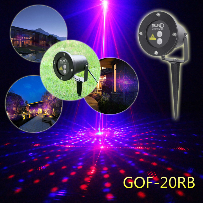20 Patterns Red Blue Garden Laser Projector Outdoor Waterproof Xmas Holiday Party Landscape Light<br><br>Aliexpress