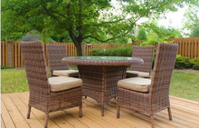 Sigma leisure garden outback furniture dining table set outdoor resin chair
