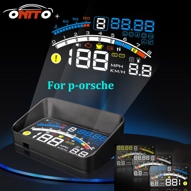 Car styling For 911 Boxster Cayman Cayenne Panamera Macan 4E 5.5 Car OBD2 II EUOBD Car HUD Head Up Display projector car lamps <br>