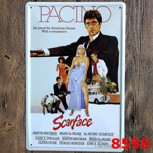 30X20CM Classical Movie Scarface Vintage Home Decor Tin Sign Wall Decor Bar Metal Sign Vintage  Art Poster Retro Plaque\Plate