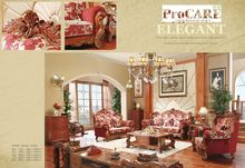 luxury antique italian style red color fabric sofa set for living room furniture 3+2+1