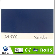 thermosetting RAL5003 sapphire blue epoxy polyester spray electrostatic powder coating