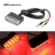 MALUOKASA Motorcycle Brake Light 12V LED Stop Lamp Taillight Rear Indicators Turn Signals for dual sport /ATV/Dirt Bike/quads(China)