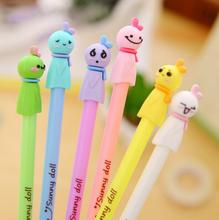 6pcs/lot 0.38mm Cute Candy Color Sunny Doll Gel Ink Pen Promotional Gift Stationery School & Office Supply(China)