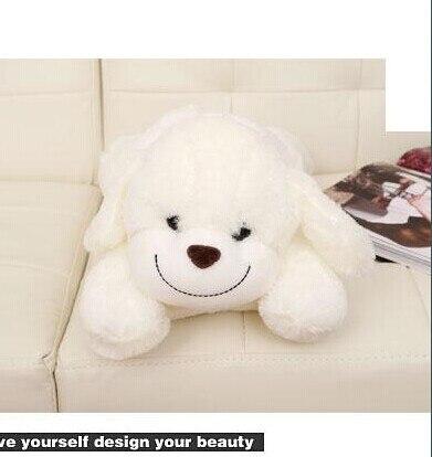 Stuffed animal 30cm white lying smiley dog plush toy doll high quality gift present w1304<br><br>Aliexpress