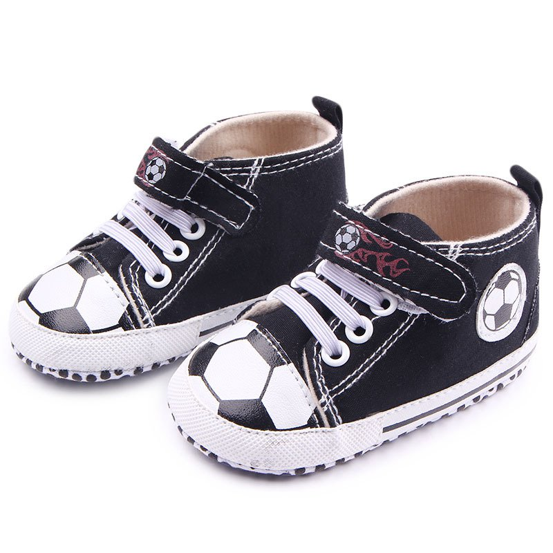 Spring Autumn Toddler Sneaker Kid Canvas Lace-Up Soft Sole Baby Shoes Boys Football Pattern Crib Shoes<br><br>Aliexpress