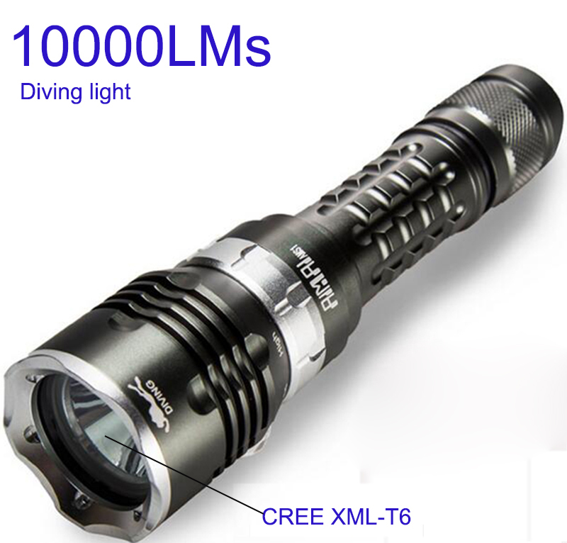 Diving Flashlight 18650 Light Dive Torch Powerful Cree LED XM-L2 Underwater Max 70m 5 modes Flashlight Waterproof Diving Lamp <br>