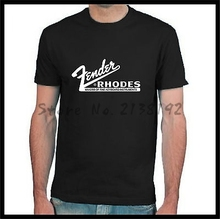 Vintage Fender Rhodes logo shirt men's top tees