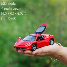 High Simulation 1/32 Scale Die Cast Car Metal Pull Back Car Model Toy Small Cars for Boys
