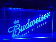 LA002- Budweiser Beer Bar Pub Club NEW LED Neon Light Sign home decor crafts(China)
