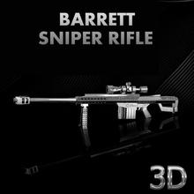 Metal Works DIY Laser Metal Models / Assemble Miniature Metal 3D Barrett Sniper Rifle Jigsaw Puzzle For Decoration Best Gifts
