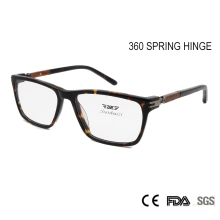 Newest Design Wood Glass Frame Women's Fashion Eyeglasses Frame  360 Spring Hinge Clear Lens Nerd Glass Eyewear Men
