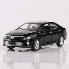 Collectible Diecast 1/32 Scale Toyota Camry Car Models Alloy Pull Back Car Toys With Sound Light Boys Gift Toys(China)