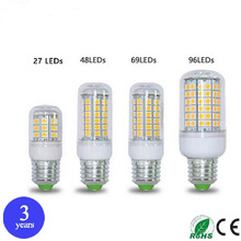 50pcs E27 E14 220V LED Lamps 27 48 69 96Leds 5W 8W 15W 25W SMD5050 Corn LED Bulb Ceiling Light Led Christmas Chandelier Lighting(China)