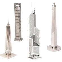 DIY Mine 3D Puzzle Assembly Fashion Building Toys Educational Kids Toys Architecture IQ Adult Metal Jigsaw Puzzle New Year Gift(China)