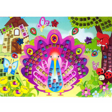 11 Colors 3D DIY Foam Mosaic Stickers Art EVA Children Puzzle Cartoon Crystal 3D Sticker Creative Educational Toys For Kids