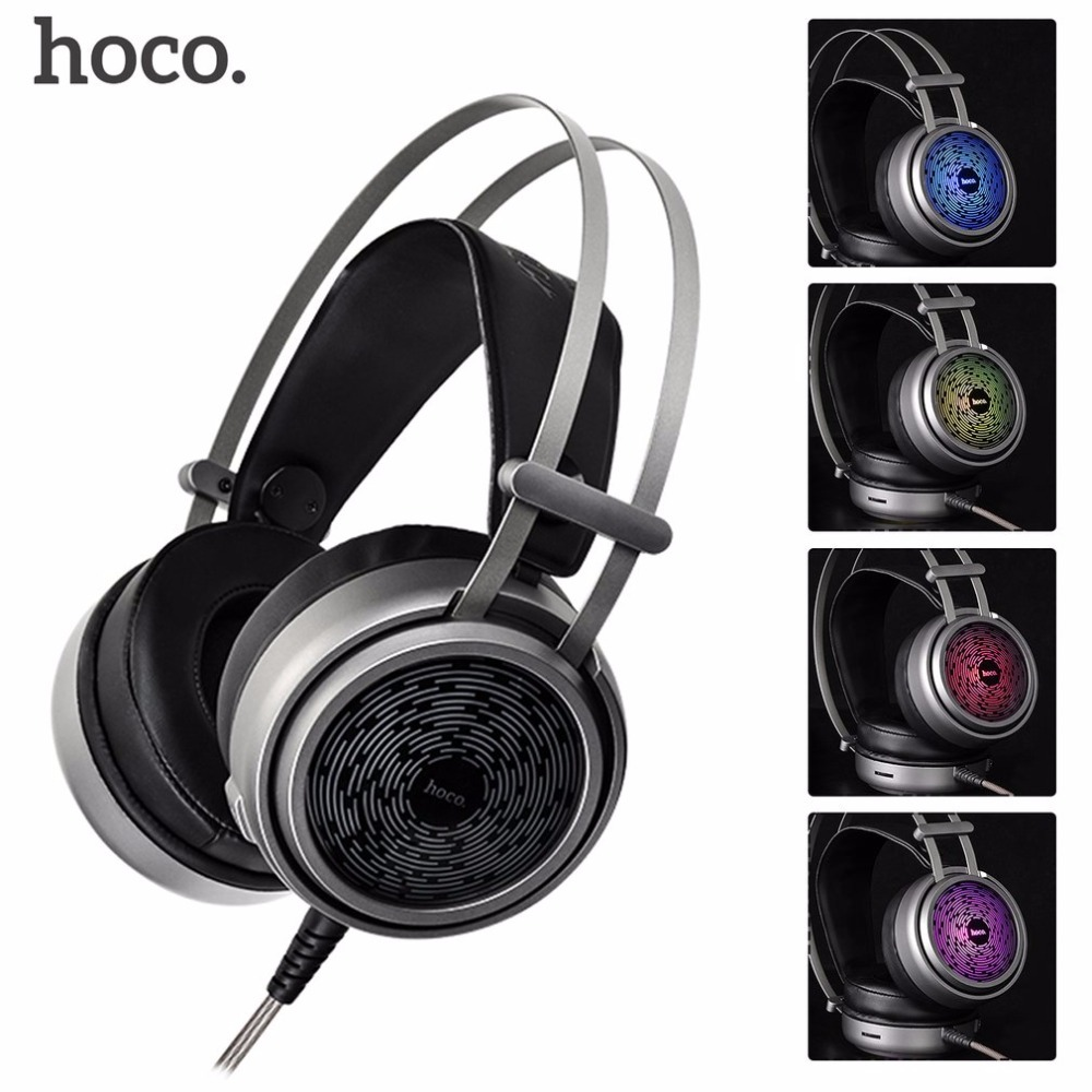 HOCO Headband Fashionable Headset For Computer Wired Gaming Headphones For Phone Gamer Headset Earphones with Microphone<br>