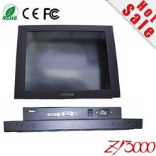 new 15inch 4:3  open frame metal casing waterproof DVI VGA USB( RS232) 4 wire resistive industrial touchscreen monitor