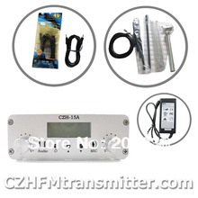 FMUSER CZE-15A15W FM stereo PLL broadcast transmitter radio 87.5-108mhz  GP Antenna kit
